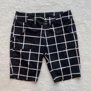 Jofit Black and White Bermuda Golf Shorts